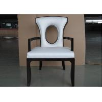 China Solid Wood Chair Luxury Hotel Furniture For Restaurant with Leather Seat wholesale