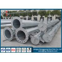 China 69KV Electrical Power Pole Hot Dip Galvanized Transmission Line Pole Q345 45m wholesale