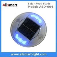 China Solar Road Stud ASD-004 6pcs LEDs Solar Road Marker Solar Cat's Lights Solar Accent Lights Solar Security Lights wholesale