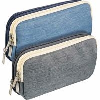China Durable Zip Up Pencil Case With Compartments , Students Stationery Pencil Pouch on sale