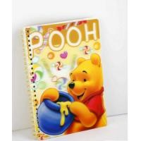 China OK3D Manufacture High Quality Customized 3d lenticular notebook cover printing service with pp pet book cover on sale