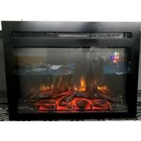 China 26 insert electric fireplace heater or wall mounted fireplace RV fireplace EF-30BF flat panel log fuel real flame wholesale