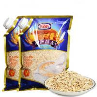China Custom Print Three Side Seal Bag Clear Window For 1000g Oatmeal wholesale