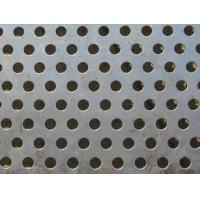 China Round Plain Stainless Steel Perforated Sheet 60 Degree Staggered wholesale