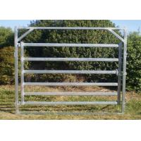 Buy cheap Six Bars Heavy Duty Metal Oval Rail Cow Fence Panels for Au Market from wholesalers