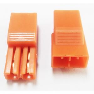 China 5.60mm Pitch 2P LED Connectors L=27.4  PA66 Orange Led Strip Connector wholesale