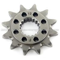 China 20 MN Steel Front Dirt Bike Chain Sprocket With Closet Tolerance And Best Teeth Profile on sale