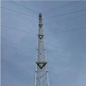 China Communication bts fm radio tv satellite tubular steel 3 leges lattice tower on sale
