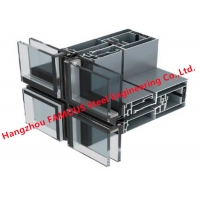 China Modular 4m Unitized Glass Curtain Wall High Rise Building Construction wholesale