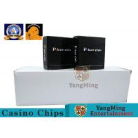 China 100% PVC Plastic Playing Cards / Casino Gold Plated Card With Two Color on sale