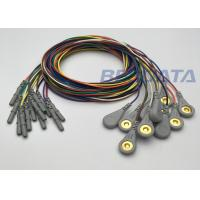 China Din EKG / EMG / EEG Snap Lead EEG Electrodes With 1.5mm Din Touchproof Connector wholesale