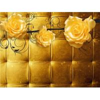 China Yellow Roses 3D Bamboo Wall Panels Decorative Interior Wall Paneling wholesale