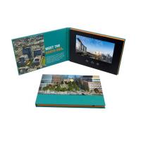 China Advertising Promotion Video Brochure Card 7 Inch Lcd Video Book Four Color Printing wholesale