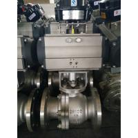 China 2PC Floating Type, Stainless Steel Pneumatic Actuator Flanged Ball Valve wholesale