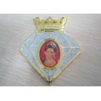 Grosse Junkersdorfer 3D Zinc Alloy / Pewter Carnival Medal by Purple Rhinestone, Gold Plating