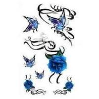 China Waterproof safty Butterfly Temporary Tattoo Sticker customizable for body , nail art wholesale
