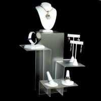 China Excellent Shape Acrylic Jewelery Watch Necklace And Earring Display Stands wholesale