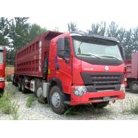 China 420 hp A7 8x4 Dump Tipper Truck / 4 axle dump truck with A7-W Cabin wholesale