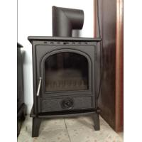 China 8KW matt black casting iron wood stoves wholesale