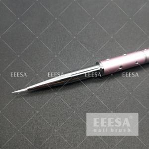 China White Nylon Hair 671U Pink Color Professional Nail Art Brushes #000 Nail Paint Brush wholesale