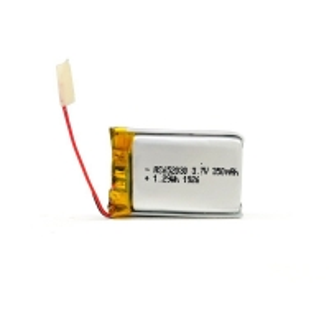 China 350mAh 3.7 V Lithium Polymer Battery CV Charge KPL652030 wholesale