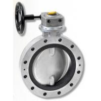 Quality Worm gear double flange butterfly valve for sale
