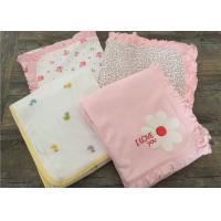 China Embroidered Ruffle Baby Sleep Cover , Luxury Cotton Bedding Sets For Baby Cribs wholesale