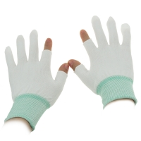 Buy cheap S M L XL 10g Half Finger Palm Fit ESD Carbon Gloves from wholesalers