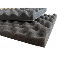 China Self - adhesive PU Foam Insulation Material Black Wavy Shape For Noise Reduction on sale