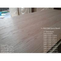 China Red Oak Fancy Plywood 1220 x 2440mm wholesale