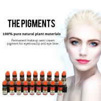 China OEM Pure Natural Plant Semi Permanent Makeup Pigments For Eyebrow Tattoo wholesale