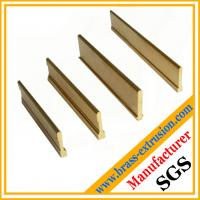 China Extruded brass profiles for floor parts stair parts brass Tees wholesale
