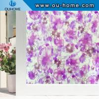 China H22047 Translucence removable films decorative embossed pvc static window film wholesale