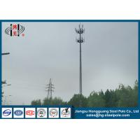 China Q235 Steel Conical Antenna Pole For Broadcasting , Transmission Tower wholesale