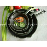 cast iron frying pan with short handle