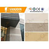 Quality Artificial Stone Insulated Building Panels , Concrete Wall Panels Durability for sale