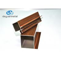 China Wood Grain / Mill Finished Aluminum Extrusion Profile For Decoration , Alloy 6063-T5 wholesale