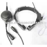 China Professional quality throat microphone with earphone wholesale