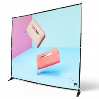 China Digital Printing Adjustable Banner Stands Step Repeat Backdrop Telescopic wholesale