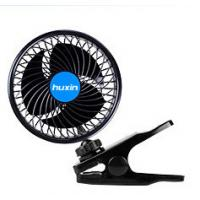 China Small Universal Car Accessories Clip On Oscillating Fan With Cigarette Lighter Plug on sale