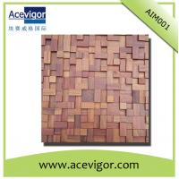 China antique wood mosaic tiles for indoor wall/background decoration wholesale