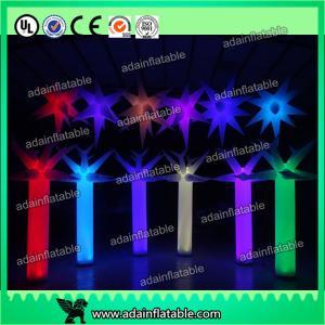 China 300cm LED Inflatable Pillar Lighting Decoration, Inflatable Light Column,Inflatable Star wholesale