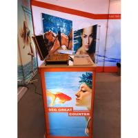 Quality Aluminum SEG Counter pop up banner stands , pop up exhibition stands for sale