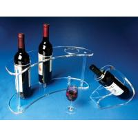 China Transparent And Healthy 3 Bottle Acrylic Wine Racks With Fashion Shape wholesale