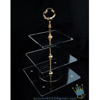 China CD (38) golden stick 3 tiers cake stand wholesale