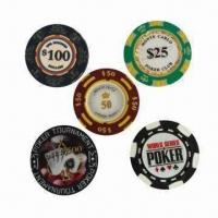 China 13.5/11.5/8/4g Poker Chips, Customized Patterns are Accepted wholesale