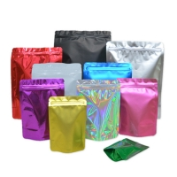 China Various Size Matte Aluminum Foil Plastic Ziplock Heat Sealable Stand Up Food Storage Bag on sale