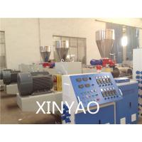 China SJZ80 Conical double screw PVC Pipe Extrusion Line , PVC twin screw extruder, wholesale