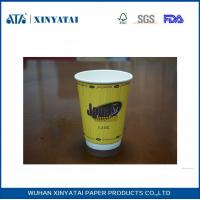 China Fruit Juice / Beverage Custom Paper Coffee Cups , Takeaway Coffee Cups for Hot Drinks wholesale