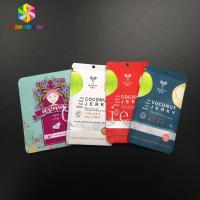 China Mylar Pouch Grip Seal Bags Food Grade Storage Cosmetic Tea Powder Sample Giveaway wholesale